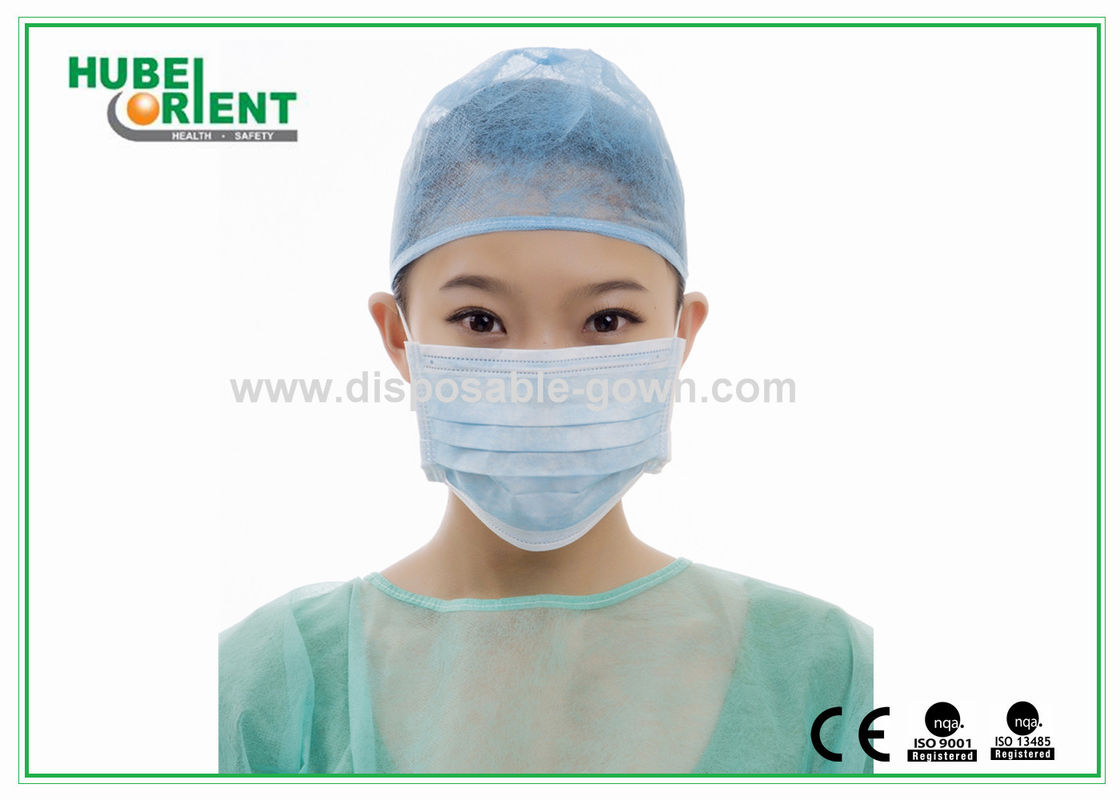 Green /  Blue Nonwoven 3 Ply Surgical Disposable Face Mask with Earloop
