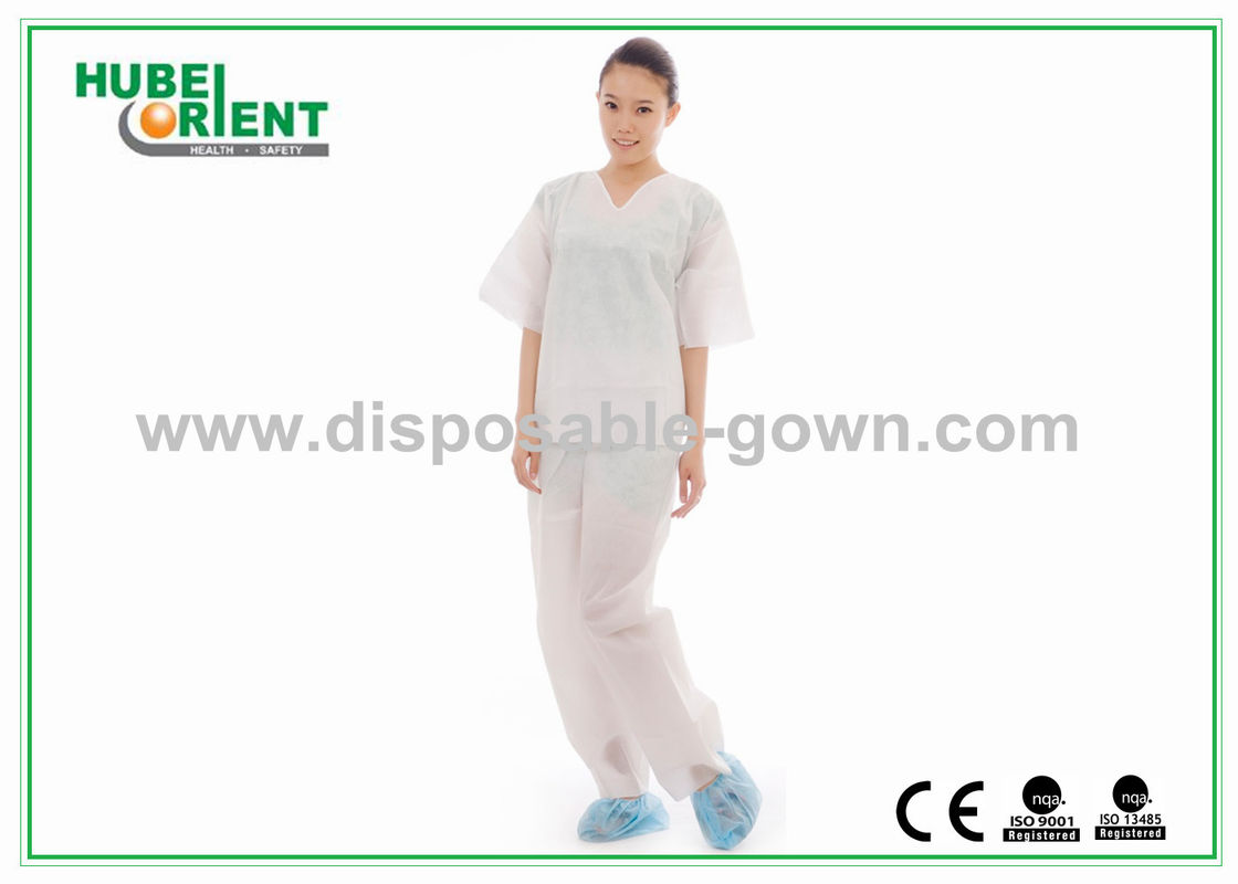 SMS Disposable Protective Clothing Kit SMS Pajamas Suit Non Toxic