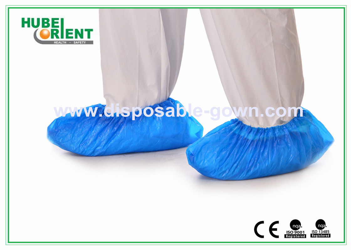 Comfortable Flexible Blue CPE Disposable Foot Covers with CE , ISO