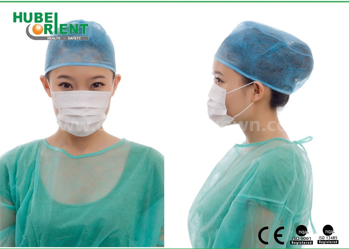Type IIR Disposable Medical Face Mask With Double Latex-Free Elastic For Laboratory And Hospital