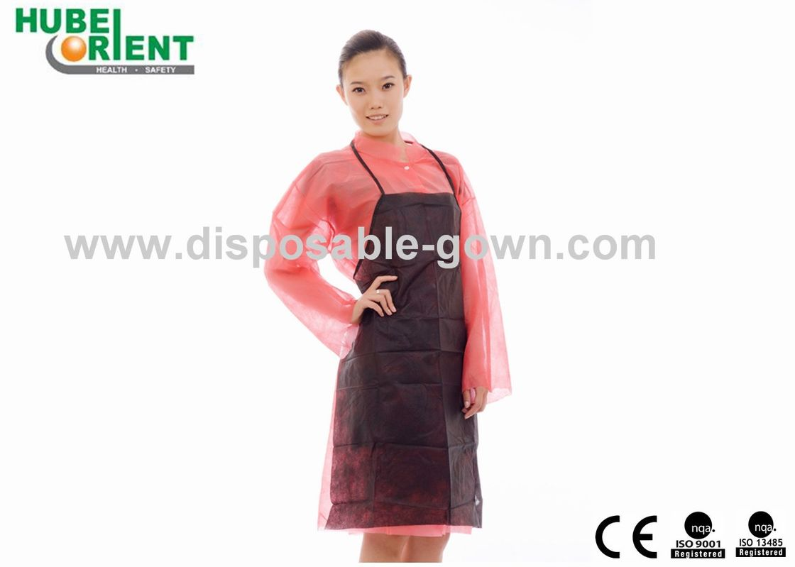 Single Use Apron Made By Non-Woven Without Sleeves For Prevent Dust And Bacterial