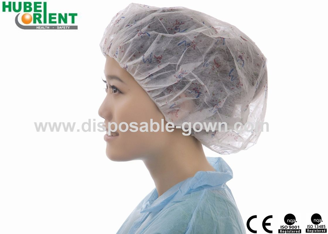 Single Use Round Bouffant Cap With Single Elastic For Prevent Dust And Protect Head Away From Splashing