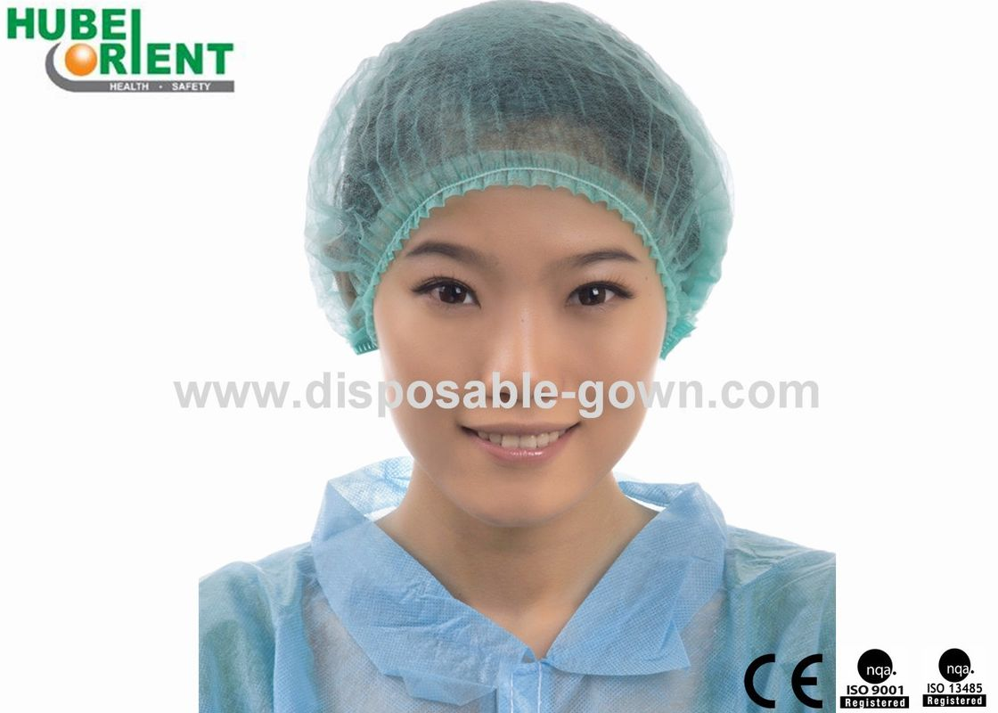 Disposable Round Cap With Double Elastic Vantilate For Head Made By Non-Woven In Clean Environment